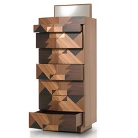 Free standing wooden chest of drawers MAGGIO by Porro | design Alessandro Mendini