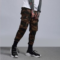 Men's Fashion Casual Camouflage Cotton Slim Sports Pants [411396538397]