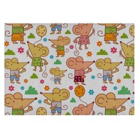 Funny Mouse Balloons Flowers Pattern Cutting Board