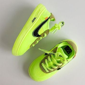 NIKE OFF-WHITE x Air Force 1 2.0 Baby shoes