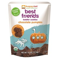 Happy Tot Best Friends Cookies - Chocolate & Pumpkin 4.5 oz USDA Organic