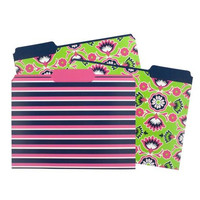 Artist Designed File Folders.  Set of 6 Fresh Floral Folders with 3 Design Variations.