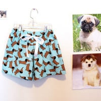 Dachshund dog PJ shorts