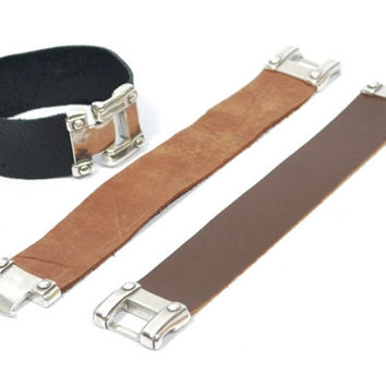 mens black leather cuff * mens black leather bracelet * hipster bracelet * brown leather bracelet *  gifts for men * gifts for dad