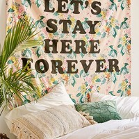 ban.do Let's Stay Here Forever Tapestry | Urban Outfitters