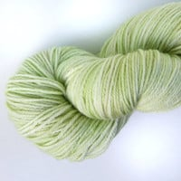 Hand Dyed Sock Yarn - Celery Stalk - Light Green Fingering - 420 yards