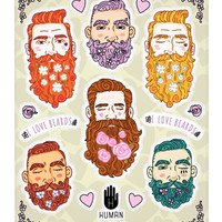 I LOVE BEARDS STICKERS - PREORDER
