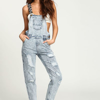 GREY FESTIVAL EMBROIDERED OVERALLS