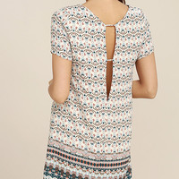 Botanical Beauty Beige Print Shift Dress