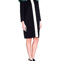 Fendi - Fur-Collar Colorblock Wool Coat - Saks Fifth Avenue Mobile