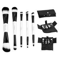 5pcs Double Ended Makeup Brush Set  Professional Cosmetic Make Up Tools