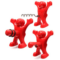 1pc Newest Funny Happy Man Guy Wine Stopper Opener Novelty Bar Tools Wine Cork Bottle Plug Perky 2015