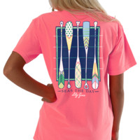 Lilly Grace Short Sleeve Tee- Seas the Day