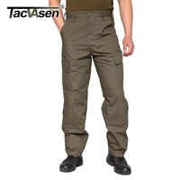 TACVASEN Tactical Pants Men Military Bdu Camouflage Paintball Cargo Pants Mens Clothing Casual Combat Army Trousers TD-WHFE-014