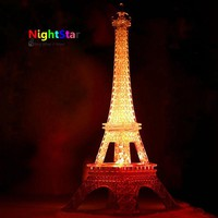 2016 Hot-sale Eiffel Tower LED Night Light Desk Baby Table Lamp Wedding Bedroom Decorate Child Gift Christmas Lights Lamp