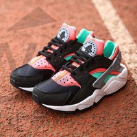 Best Online Sale Nike Air Huarache 1 Rainbow Ultra Breathe Men Women Hurache Black/Gre