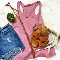 Mauve Criss Cross Tank
