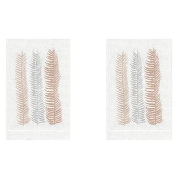 Peach Kelp Linen Guest Towels (Set of 2) by Anali