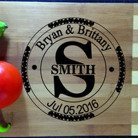 Personalized Cutting Board Engraved Custom, Wood Cutting Board, Wedding Gift, Housewarming Gift, Anniversary Gift, Valentines Day Gift