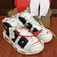Best Deal Online Nike Air More Uptempo X OFF-White Men Sneakers Sports Basketball Shoes