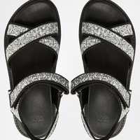 ASOS FRESH OUT THE BOX Two Part Footbed Sandals