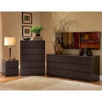 Wooden Modern Espresso 5 Drawer Dresser Nightstand Chest Bedroom Furniture