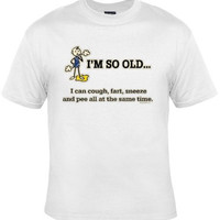 OLD Birthday Funny Tee, Graphic Tee For Older Men And Women Great Christmas Gift
