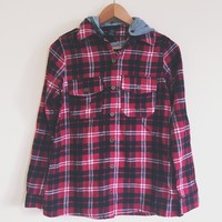 Dani Red Hooded Flannel