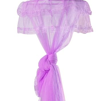 GYBest Round Lace Curtain Dome Bed Canopy Netting Princess Mosquito Net (Purple) Purple