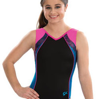 Bold Sporty V neck Tank Leotard from GK Elite