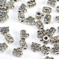 small silver bails - pendant necklace bail - bali sterling silver pendant bails - jewelry bail supplies - jewelry connector bails - 5 pcs
