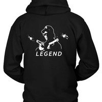 Eazy E The Legend Pistols Hoodie Two Sided