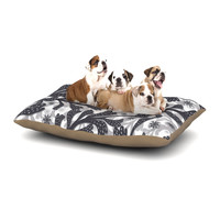 """Akwaflorell """"Snow Houses"""" Gray Abstract Dog Bed"""