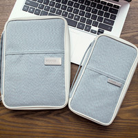 Gray Passport Holder Ticket Purse Wallet