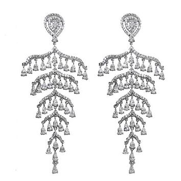 Belem Cascade Drops Chandelier Earrings | 102mm