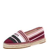Fendi Stretch-Knit Metallic Espadrille