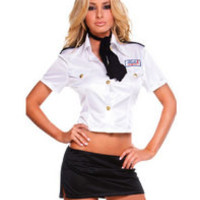 White Officer Cop Costume