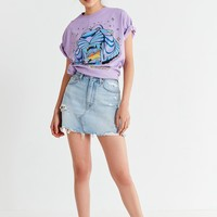Levi's Deconstructed Denim Mini Skirt – Indigo | Urban Outfitters