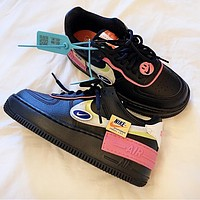 Nike Air Force 1 Macaron Splicing Popular Women Leisure Sport Running Shoes Sneakers Black