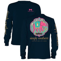 Youth- Simply Southern Preppy Let God Long Sleeve