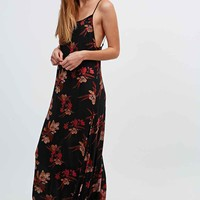 Free People Floral Maxi Dress in Black - Urban Outfitters