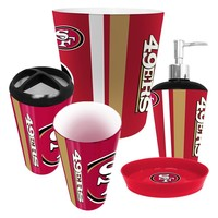 San Francisco 49ers NFL Complete Bathroom Accessories 5pc Set