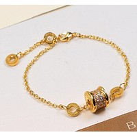 BVLGARI men and women couple models fashion wild spring round brand non-fading bracelet F-HLYS-SP Golg