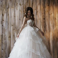 Wedding dress 2 in 1, ball gown, short wedding dress