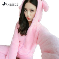 JRMISSLI Flannel Pigama Donna Pyjamas Women Winter Pajamas For Women Winter Women Pajama Sets Pijama Feminino Pijama Mujer Pink