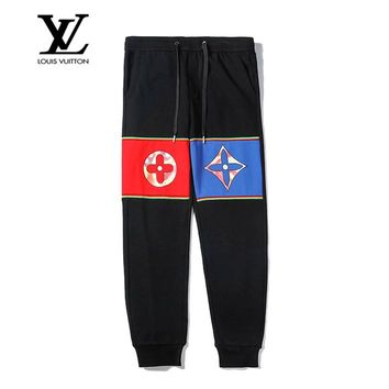 LV Louis Vuitton New casual versatile cotton printed trousers
