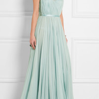 Alexander McQueen - Gathered silk-chiffon gown
