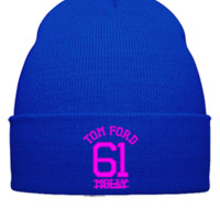 tom ford molly embroidery - Beanie Cuffed Knit Cap