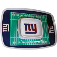 New York Giants NFL Chip & Dip Tray