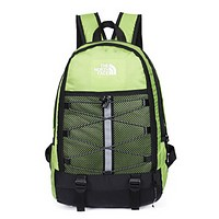 The North Face Fashion New Embroidery Letter Women Men Backpack Bag Green